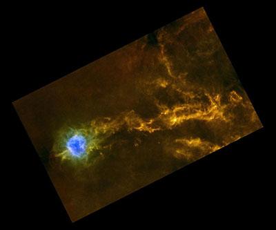 Star-studded strings around Cocoon Nebula